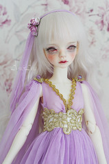 Lavender Elf (AyuAna) Tags: bjd ball jointed doll dollfie ayuana design minidesign handmade ooak clothing clothes dress set outfit gown robe vetement fashion couture sewing sewingfordolls slim msd mnf minifee fairyland size fantasy romantic style dim dollinmind laia hybrid withdoll body