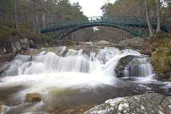 Bridging The Falls (steve_whitmarsh) Tags: aberdeenshire scotland scottishhighlands water river waterfall bridge rocks longexposure