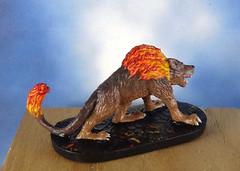 Hellhound-Devil-Demon-Fiend-Painted-Miniature-04 (Dead Bard Miniatures) Tags: painted pathfinder ralpartha reaper chainmail chronoscope miniature dungeons dragons dd dnd warhammer wotc