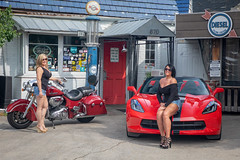 IMG_6608-Edit.jpg (Skip Cox) Tags: indianmotorcycles corvette vette chevy stingray torch red c7 topless convertible black sexy hot cool fast z51 z06 automotive photographer blonde model heels babe girl women indian motorcycles diesel