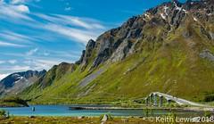 The Bridge (keithhull) Tags: lofotenislands mountains fiord bridge cars arctic norway 2015 landscape