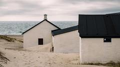 Buildings in the Sand (Poul_Werner) Tags: danmark danskefujientusiaster denmark nationalparkthy stenbjerg beach hav ocean otherpeople photowalk sea strand snedsted northdenmarkregion dk