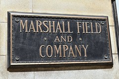 Marshall Field & Co (Crawford Brian) Tags: sign plaque bronze chicago marshallfield macys illinois city store merchant midwest frango