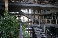 2018-04-FL-183517 (acme london) Tags: barcelona bridges corridor fira fireescape hotel jeannouvel landscape planting renaissancehotelfira spain stairs staricase