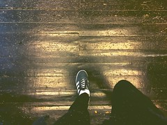 stepping out from the shadows - i find that i am also made of light - i am light and i am dark in equal measure - as it should be (i wen† lef†) Tags: earthbelow earthbelowgirl dreamer trainers sneakers adidas floors woodfloor shadowsandlight lighthunter shadows light