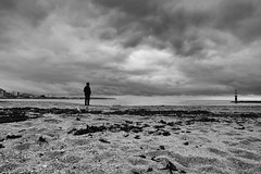 silence II (Dan-Schneider) Tags: streetphotography street silhouette schneider shadow sky sea silence blackandwhite bw beach monochrome moment mood minimalism clouds composition fuji fujix