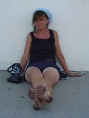post (paulswentkowski1983) Tags: dirty feet soles filthy female black street feewt pitch