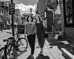 10th Street, 2017 (Alan Barr) Tags: philadelphia 2017 10thstreet archstreet chinatown street sp streetphotography streetphoto blackandwhite bw blackwhite mono monochrome candid city people panasonic lumix gx7