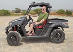 Buggy ride. (CWhatPhotos) Tags: cwhatphotos buggy ride car holiday cyprus man male driver beach kymco eastern road 2018 april digital camera pictures picture image images photo photos foto fotos that have which contain olympus penf vehicle drive hire fun open