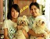 pretty ladies and their hairy dogs (the foreign photographer - ฝรั่งถ่) Tags: two pretty ladies hairy dogs holding khlong thanon portraits bangkhen bangkok thailand