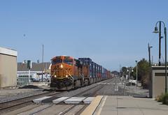 BNSF Stacks at Berkeley (imartin92) Tags: berkeley california bnsf railroad railway freight train ge generalelectric es44ac es44c4 gevo c449w dash9 locomotive