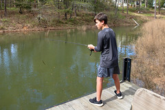 Youth fishing - Lake Hartwell - Anderson S.C. (DT's Photo Site - Anderson S.C.) Tags: canon 6d 24105mml lens andersonsc lakehartwell water boy fishing bass fish lake savannah river upstate scenic recreation youth rodandreel fun luketaylor grandkid pier southern america usa landscape