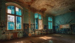 The blue room (ramerk_de) Tags: hdr blueroom mensa beelitz lostplaces aoi elitegalleryaoi bestcapturesaoi aoi3levels