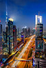 High Speed (Ellen van den Doel) Tags: 2018 oosten asia east city emirates uae lights arabie road la midden skyline traffic meandtheviewat42 medaille night blauw uur building emiraten hour toekomst dubai futuristic khalifa cityscape licht burj middle vakantie arbische town blue skyscraper verkeer arabia highway hotel modern weg azie future nightphotography holiday down shangri