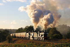 Fitting finale (Treflyn) Tags: photo charter lswr drummond t9 440 30120 maunsell u class 260 glint sun safari curve bewdley end 30742 charters day svr severn valley railway