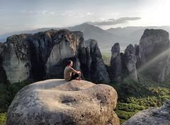 Greece (denismartin) Tags: greece europe mediterraneansea geology meteores sunset sunsetlight thessalie kalambaka orthodoxmonasteries rockformation mountain unescoworldheritagesite denismartin