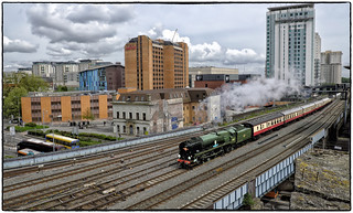 Steaming into Cardiff
