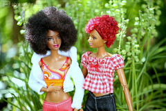funky & bobby-jean in the garden (photos4dreams) Tags: barbie mattel doll toy diorama photos4dreams p4d photos4dreamz barbies girl play fashion fashionistas outfit kleider mode puppenstube tabletopphotography aa beauties beautiful girls women ladies damen weiblich female funky afroamerican afro schnitt hair haare afrolook darkskin africanamerican bobbyjean