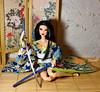 Japanese girl (saratiz) Tags: kimono yukata katana barbie tatami barbiemadetomove look windscreen