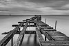 Old pier in Punta Arenas (Piotr_PopUp) Tags: puntaarenas magallanes patagonia chile pier sea estrechodemagallanes magellansstrait seascape seaside decay abandoned old blackandwhite blackwhite bw bnw longexposure slowshutter water southamerica latinamerica