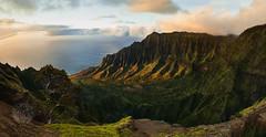Kalalau Valley Sunset, Kauai Hawaii (brandon.vincent) Tags: kauai kalalau valley lookout beach hawaii amazing sunset moody landscape pacific ocean south tropical