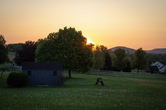 Country Sunrise (Angel_Photos) Tags: hodiernal sunrise country easton pa landscape light daybreak shed canorous america appalachian dawn