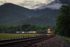 Del Rio Sunset (Peyton Gupton) Tags: ns norfolk southern del rio river line