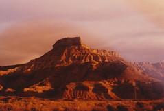 (rqlevy) Tags: 35mm fuji slidefilm xpro analog zion nationalpark utah usa explore nature landscape adventure hiking desert lightleak
