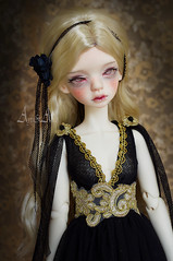 Black Dream (AyuAna) Tags: bjd ball jointed doll dollfie ayuana design minidesign handmade ooak clothing clothes dress set outfit abjd fantasy style slim msd mnf minifee fairyland size fashion couture sewing sewingfordolls dim dollinmind laia hybrid withdoll body
