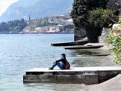 Garda Lake (magellano) Tags: garda lago lake limone italia italy donna woman candid people sitting seat sit seated