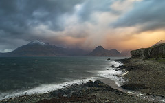Stormy Skies, Elgol, Isle of Skye (MelvinNicholsonPhotography) Tags: elgol skye storm scotland ocean waves mountains light clouds sky longexposure