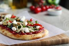Coca de verduras (carmenmedinalopez) Tags: coca cocadeverduras food foodstyling foodstylist foodphotography tomato pizza cherry onion mozzarella madrid