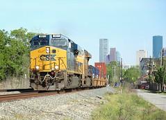 851, Houston TX, 21 March 2018 (Mr Joseph Bloggs) Tags: houston texas tx usa united states america csx up union pacific train treno bahn railway rai railroad gees44ac gevo general electric