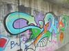 004 (en-ri) Tags: suhp peso puma azzurro arancione verde arrow torino wall muro graffiti writing