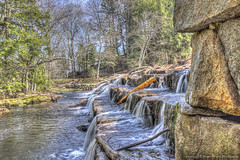 Staircase waterfall (Pearce Levrais Photography) Tags: canon 7d markii hdr water waterfall stone tree forest river stream log stick landscape