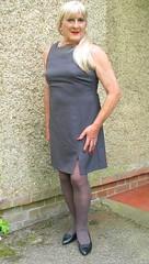 Magdagryshft-003 (fionaxxcd) Tags: crossdresser crossdressing transvestite tranny trannie m2f mtf tgurl longblonde ponytail shift rednails bust