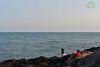Love at Dusk (Joy lens) Tags: love dusk beach sea wave couple india stone sitting