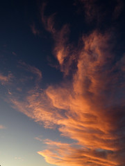 The Falling Angel (Steve Taylor (Photography)) Tags: fallenangel angel wing blue orange newzealand nz southisland canterbury christchurch northnewbrighton shape cloud sky
