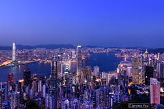 Dusk (Pixel Works) Tags: bluehour longexposure urbanskyline urbanscape victoriaharbour hongkong