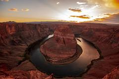 _40A5412. Horseshoe Bendjpg (ChefeGrande) Tags: arizona grandcanyon horseshoebend sunset landscape clouds outdoors river canyon coloradoriver page glencanyondam overlook navajonation southwest desert nature reflection