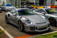 2016 Porsche 991 GT3 RS (Rivitography) Tags: supercar car exotic rare fast expensive luxury greenwich connecticut 2018 canon rebel t3 adobe lightroom rivitography porsche 911 991 gt3 silver german
