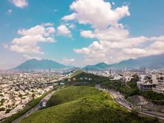 Monterrey, N.L. (gyogzz) Tags: mavic pro dji global cerro de la silla mountain drone panoramic panorama photographie photoshoot sky blue clouds monterrey nuevo león méxico