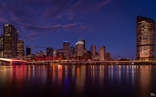 Brisbane City Lights from South Bank 2