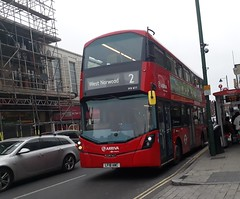 Arriva London South HV411 LF18AWC | 2 to West Norwood (Unorm001) Tags: red london double deck decks decker deckers buses bus routes route diesel hybrid electric dieselelectric battery batteryelectric hybridelectric hv411 lf18 awc lf18awc hv 411 2