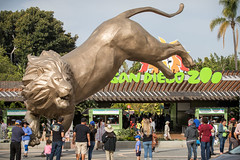 Statue Honors Rex and Balboa Park's Long-standing Art Tradition (Bob Worthington Photography) Tags: zoo041518 rex statue sandiegozoo largest