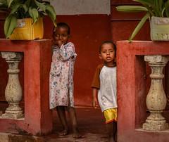 Madagascar (Rod Waddington) Tags: africa african afrique afrika madagascar malagasy antananarivo streetphotography culture cultural ethnic ethnicity children plants pots verandah home house balusters