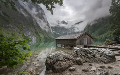 After the rain (Mika Laitinen) Tags: canon5dmarkiv europe germany obersee calm cloud landscape mountain nature outdoors rock serene sky water schönauamkönigssee bayern de