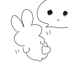 Itchy... (Human-Faced Bun w/ Honey Pudding) Tags: drawing painting art illustration bunny fluffy pudgy cute adorable creature character rabbit