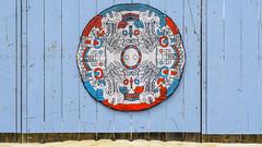 beach fence * playa coson (rey perezoso) Tags: 2018 quisqueya hispaniola samaná playa beach blue art wood fence playacoson republicadominicana sand caribe caribbean praia