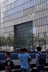 WTC One (at N. Pool, 911 Memorial) (sjnnyny) Tags: nikkorafs5014grd sonya6000 nyc 1worldtradecenter skyscraper people architecture street oudoors visitny sightsee stevenj sjnnyny adaptedlensnikonftosonyemount 911memorialplaza fountain